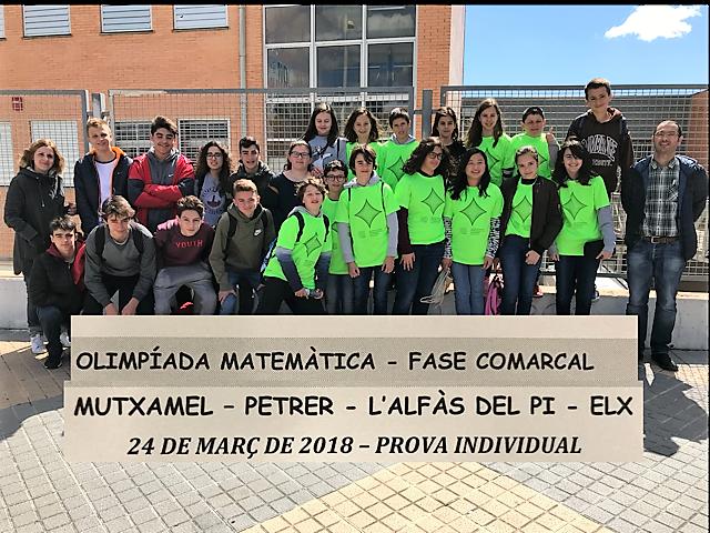 El colegio Paidos de Dénia compite en la Olimpiada Matemática