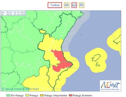 El Ayuntamiento de Dénia suspende las clases mañana Lunes por la alerta roja por fuertes lluvias