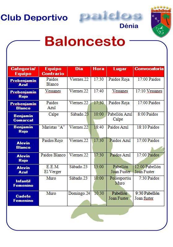 CD Paidos horarios marzo 2019