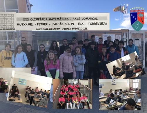 Los estudiantes de Paidos participan en la fase comarcal de la Olimpiada Matemática
