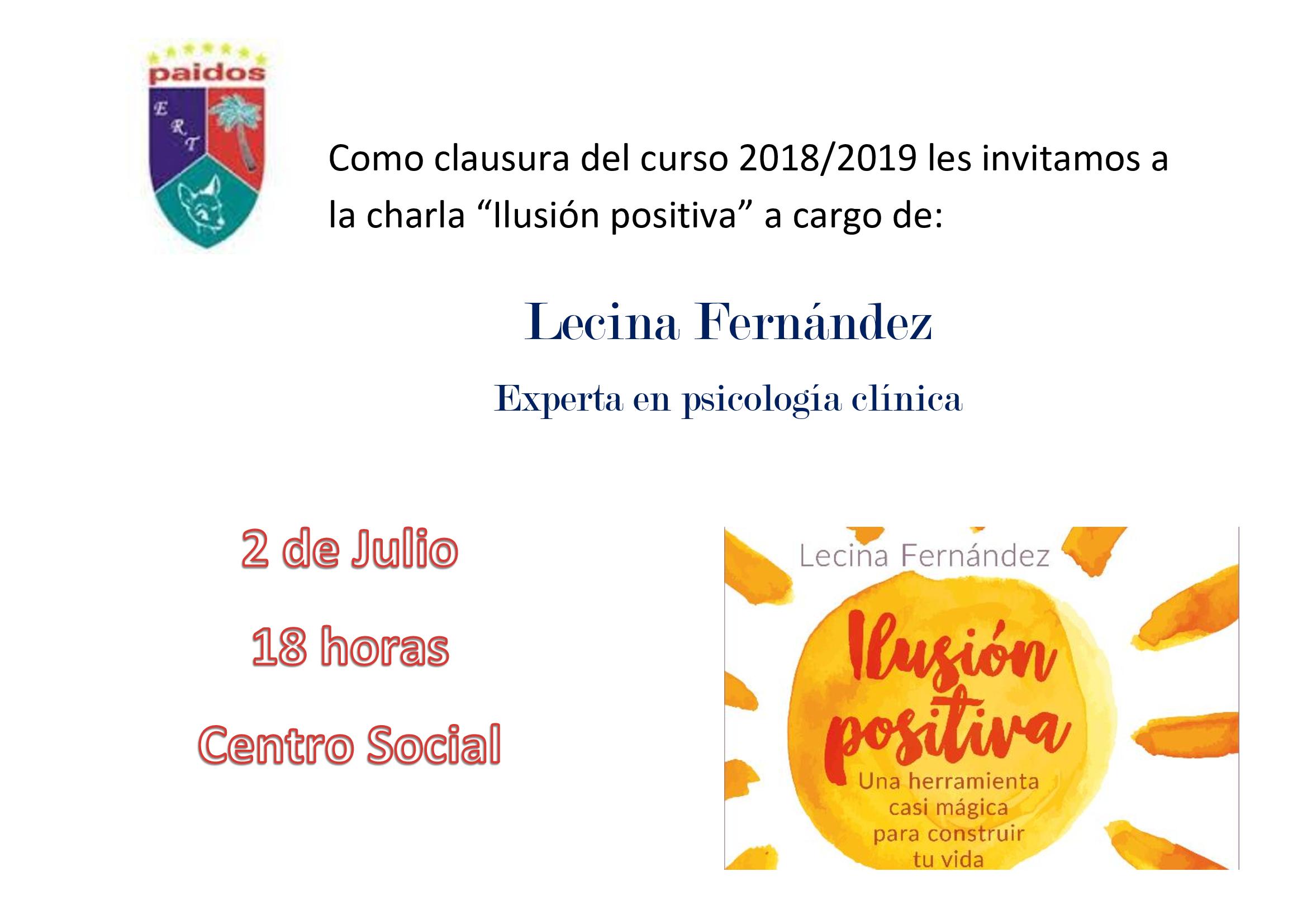 Charla Lecina Fernández en Denia organiza Paidos