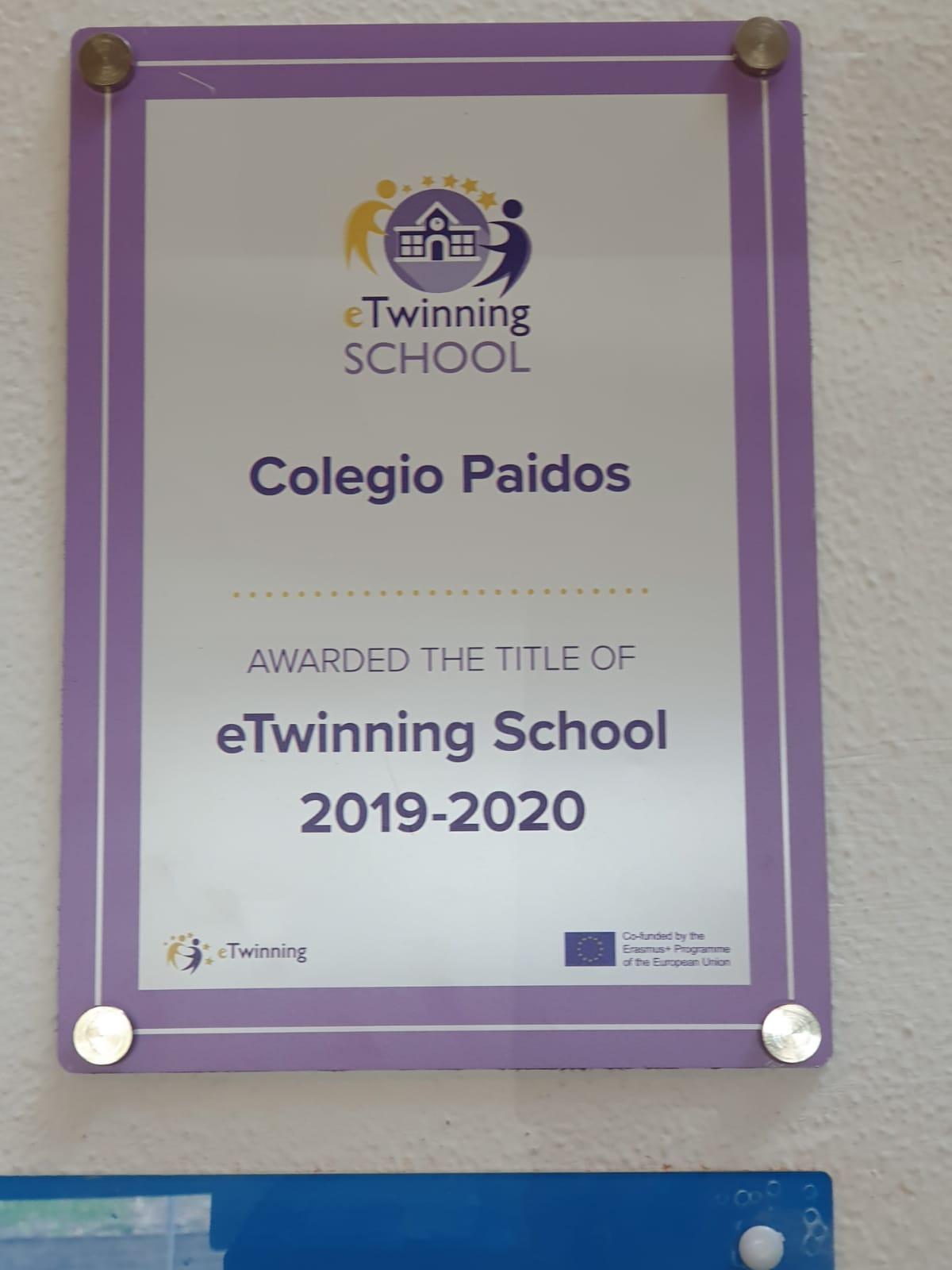 Paidos proyecto europeo eTwinning premio