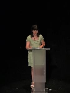 Sara Llorca, directora colegio Paidos Dena en la charla de Lecina Fernández
