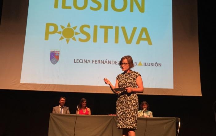Charla Lecina Fernández sobre ilusión positiva organizada por Paidos Denia