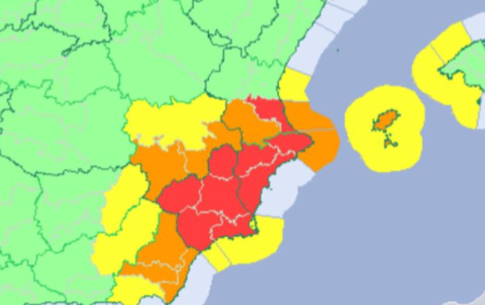 Alerta roja por lluvias septiembre 2019