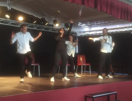 Música y baile en el escenario de Paidos para decir: ¡No+ Bullying!