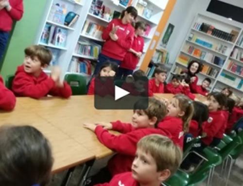 Los alumnos de Primero de Primaria inauguran la biblioteca ¡Aquí tenéis el vídeo!
