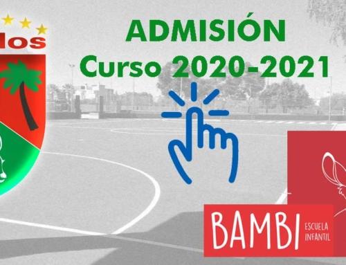 Admisión Bambi-Paidos – Curso 2020/2021