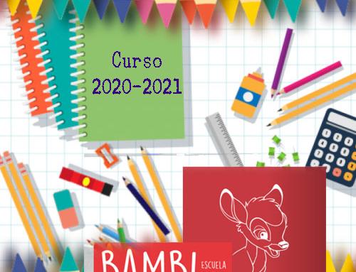 Material escolar 2020-2021 Bambi