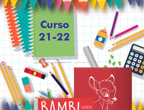 Material Escolar BAMBI curso 2021-2022